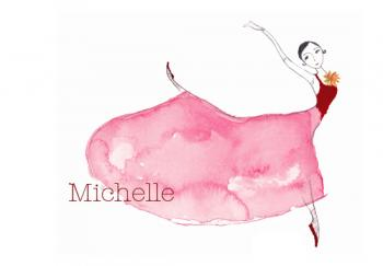 Red Ballerina Art Prints