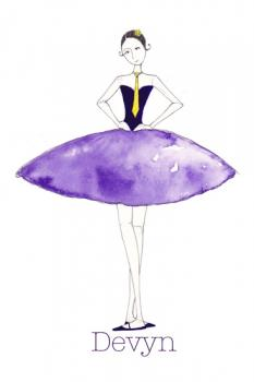Purple Ballerina Art Prints