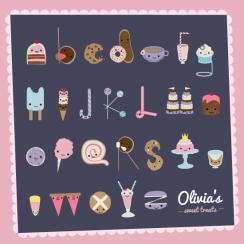 Sweet Treats Alphabet Art Prints