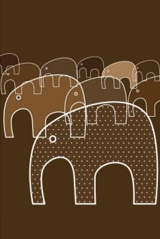 Marching Elephants Art Prints