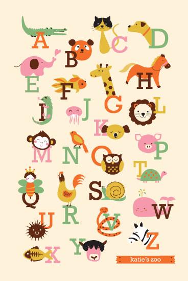 art prints - Animal A to Z by Anais Lee