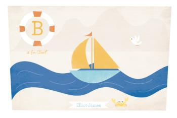 B is for Boat Art Prints