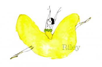 Yellow Ballerina Art Prints