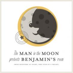 Man in the Moon Art Prints