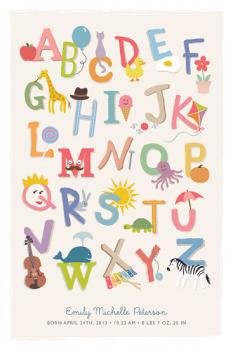 Everything ABCs Art Prints