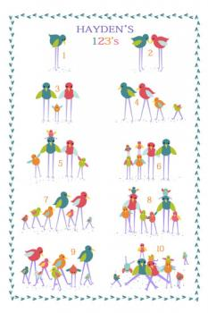 Birdy Family 123 Art Prints