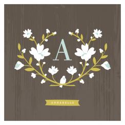 Woodland Initial Art Prints