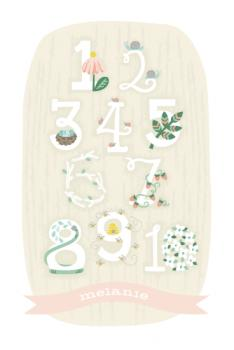 Woodland Numbers Art Prints