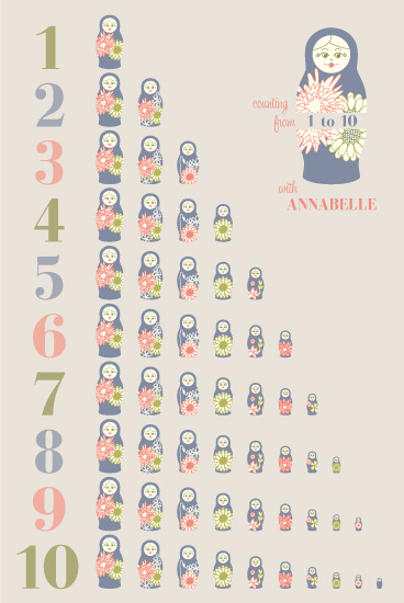 art prints - Counting with Nesting Dolls by Alina