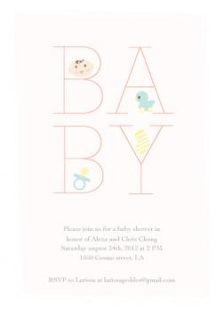 Little things  Baby Shower Invitations