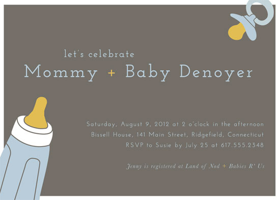 baby shower invitations - Essentially Baby by 24th and Dune