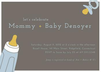 Essentially Baby Baby Shower Invitations