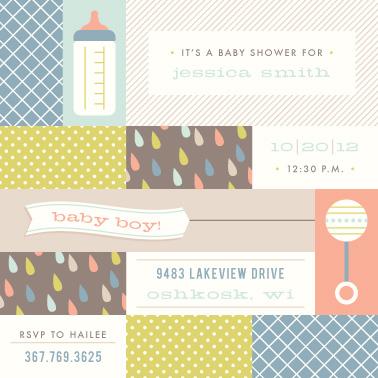 baby shower invitations - Modern Baby by Amber Barkley