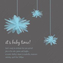 Pom Pom Baby Shower Invitations