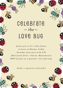 Love Bug Baby Shower Invitations