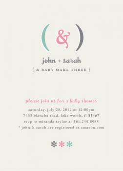 Expectant Parentheses Baby Shower Invitations