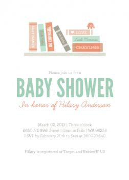 book themed baby shower invitations wedding invitation ideas