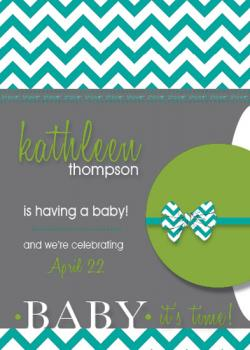 Baby It's Time Baby Shower Invitations
