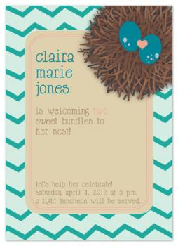 two more for the nest Baby Shower Invitations