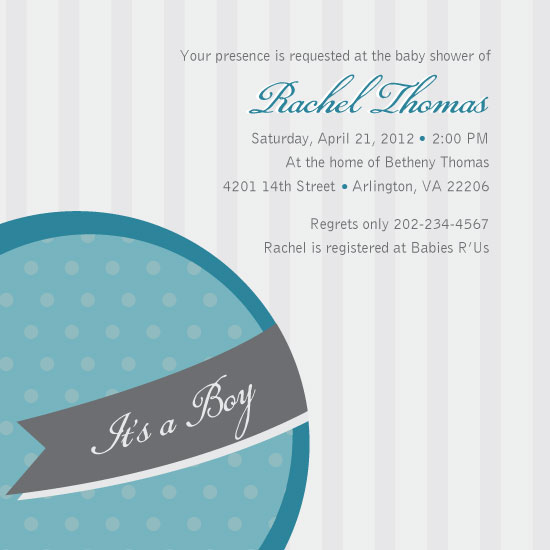baby shower invitations - Round, Striped, and Polka Dotted by Rachel Buchholz