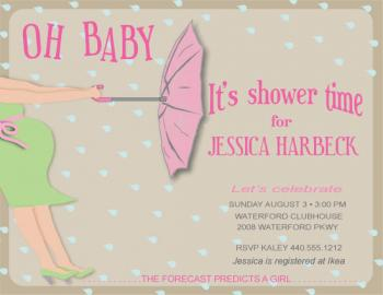 Oh Baby It's Shower Time Baby Shower Invitations