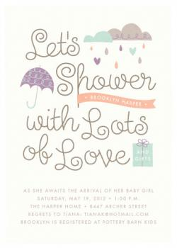Shower with Love Baby Shower Invitations