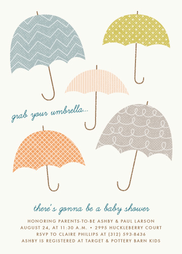 baby shower invitations - Grab Your Umbrella by Amber Barkley