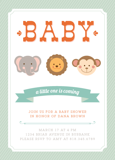 baby shower invitations - Little WIld One by Lyndsay Johnson