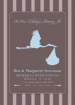 A Wonderful Blessing Baby Shower Invitations
