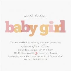 Well Hello! Baby Shower Invitations