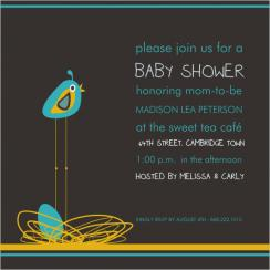 Mother's Nest Baby Shower Invitations