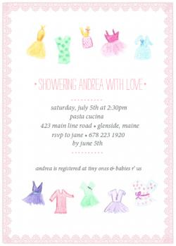 fit for a princess Baby Shower Invitations