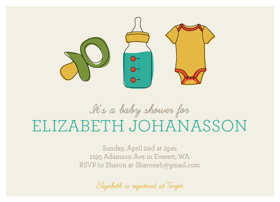 baby shower invitations - Baby 123 by Sharon Rowan