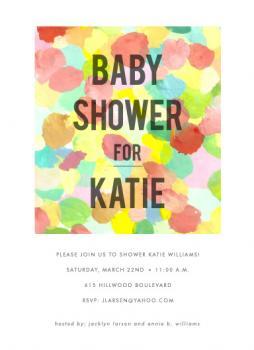 mod mom Baby Shower Invitations