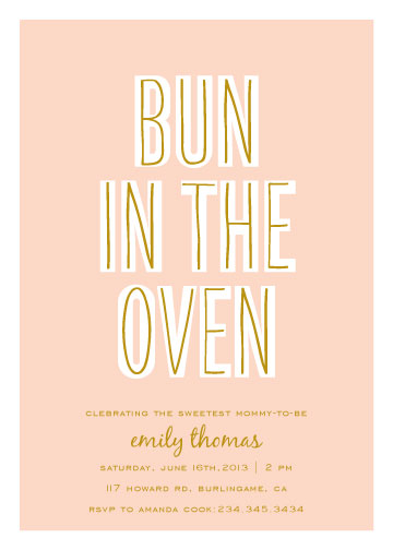 baby shower invitations - Bun In The Oven by SimpleTe Design