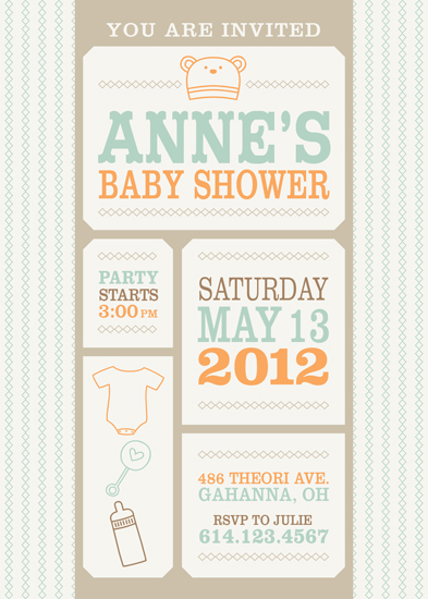baby shower invitations shower ticket at