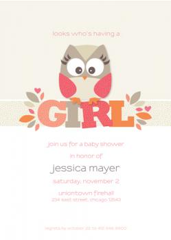Whooo's Having a Baby? Baby Shower Invitations