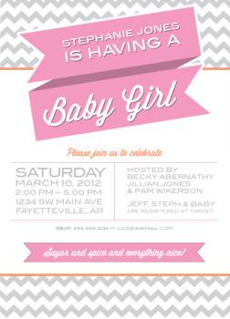 Baby a-comin' Baby Shower Invitations