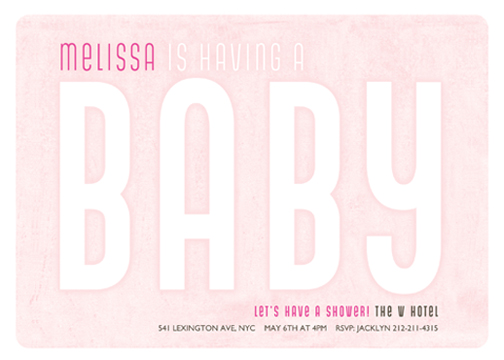 baby shower invitations - Billboard Baby by Larkspur Paperie