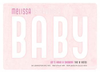 Billboard Baby Baby Shower Invitations