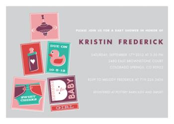Baby Tiles Baby Shower Invitations