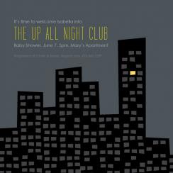 Up All Night Baby Shower Invitations