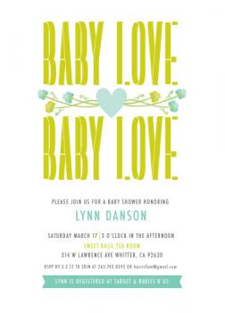 Baby Love Blooms Baby Shower Invitations