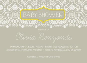 Lacey Journal Baby Shower Invitations
