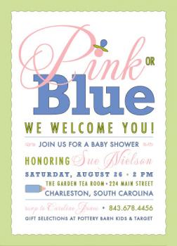 Poster Child Baby Shower Invitations