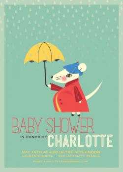 Mouse showers Baby Shower Invitations