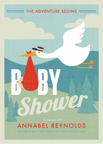baby shower invitations - adventurer by Susan Asbill