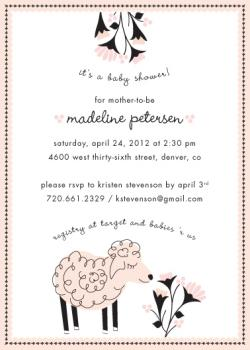 Petite Lamb Baby Shower Invitations