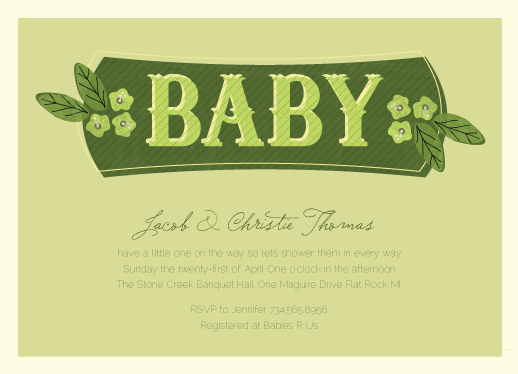 baby shower invitations - Southern Limeade by Dreaming Inspirations