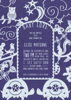 bed time story book cover Baby Shower Invitations